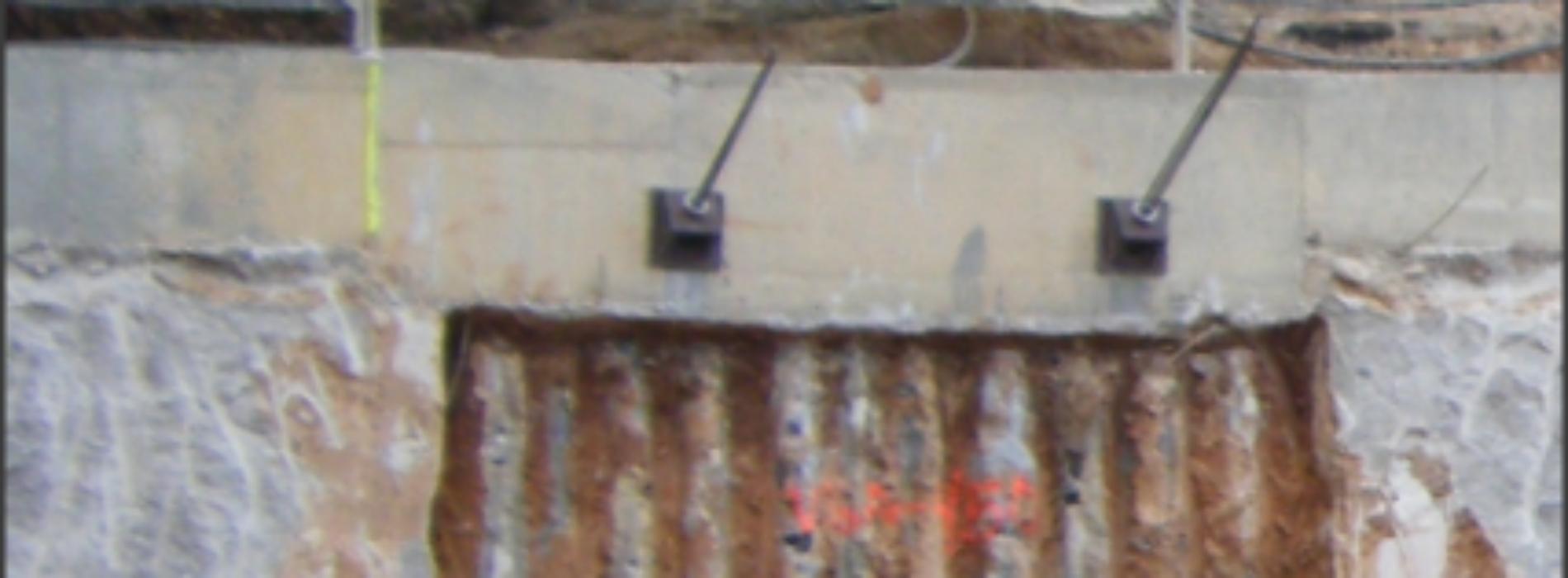 Replanteo de micropilotes para pantalla entre estructuras